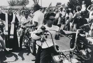 Image of Seventeenth Annual World's Largest Motorcycle Blessing, St. Christopher's Shrine, Midlothian, Illinois