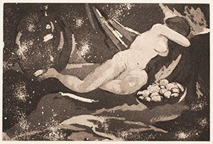 Image of Nude with Fruit Bowl