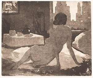 Image of Nude with City Scene