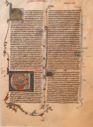 Image of Leaf of a Manuscript Bible: Book of Amos